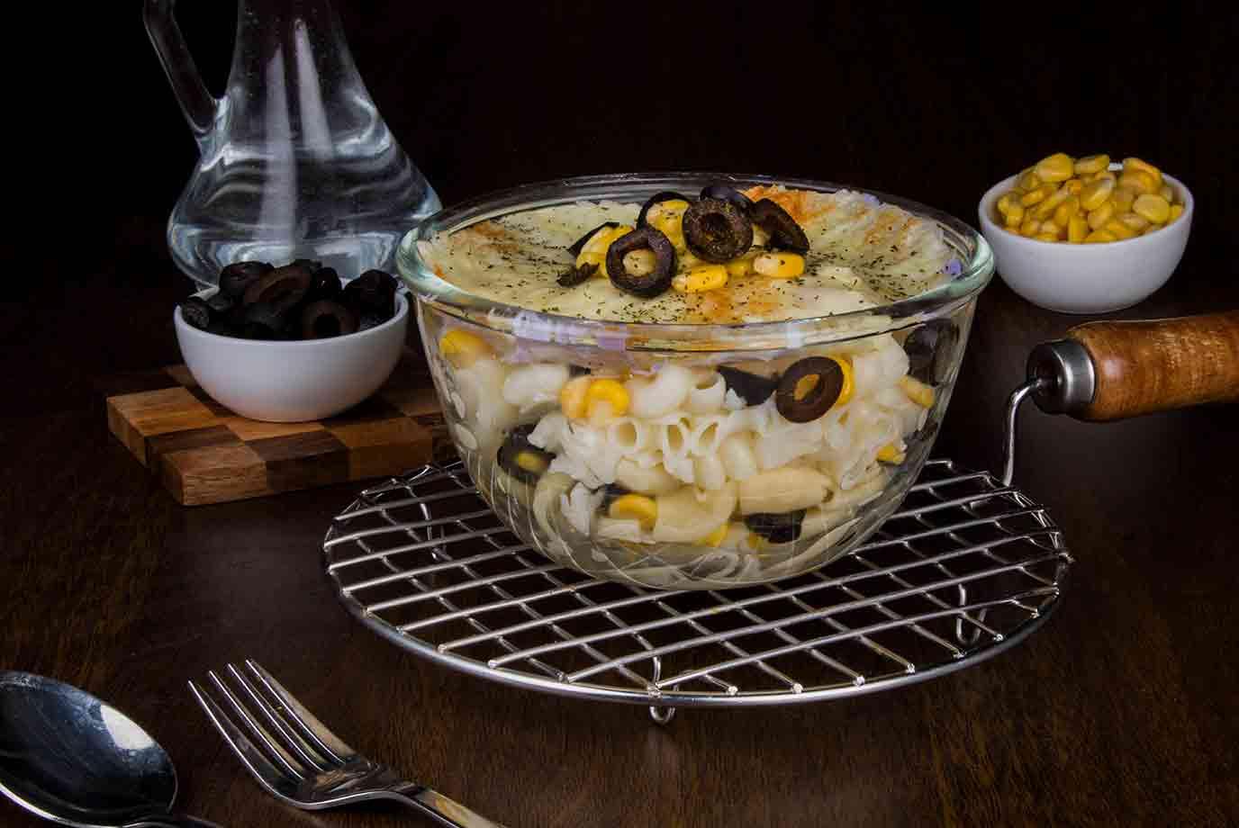 Corn & Olives Mac N Cheese