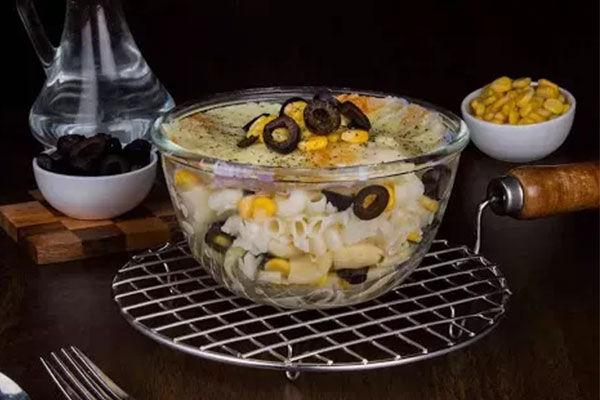 Corn & Olives Mac N Cheese.