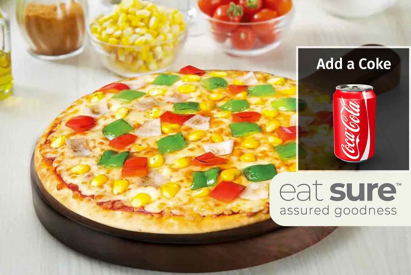 Corn Veggie Delight Pizza (11 Inch)